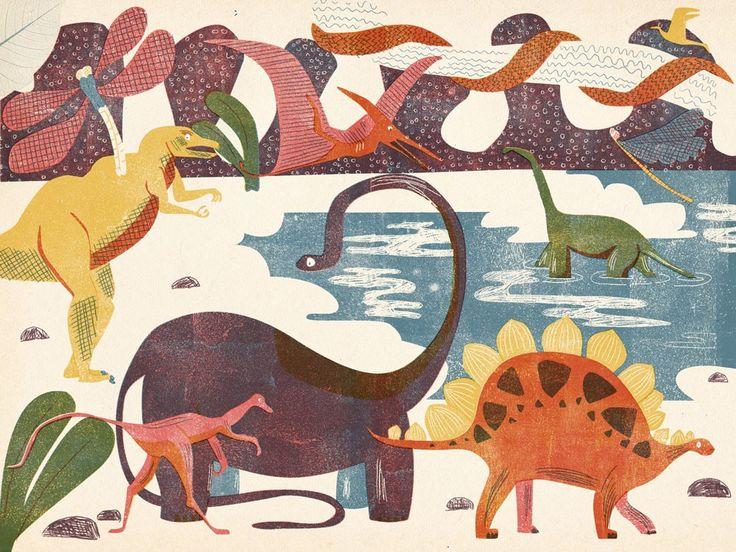"FINE ART PRINT ""Dinosaurs"" via Barbara Dziadosz. Click on the image to see more!"