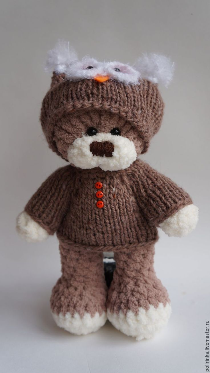 Buy or order Bear in costume Owl 2 in online shops on My Livemaster. The Teddy bear is a soft plush yarn. Linked crochet. Non-allergenic material. Blouse easy to remove the back of the wooden button. You can wash in the washing machine,if necessary.