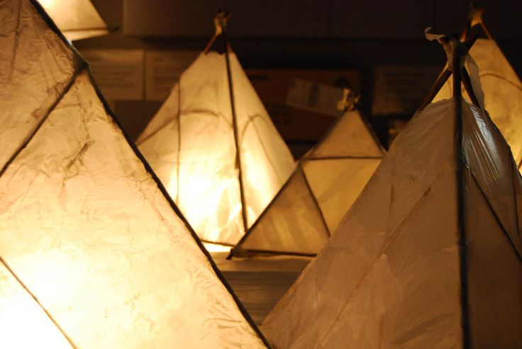 Valoa Oulu! -light festival has arranged workshops where people had opportunity to make these kind of lanterns made of willow and silk paper. All of the lanterns will be installated to a park for a massive communal art work of light.