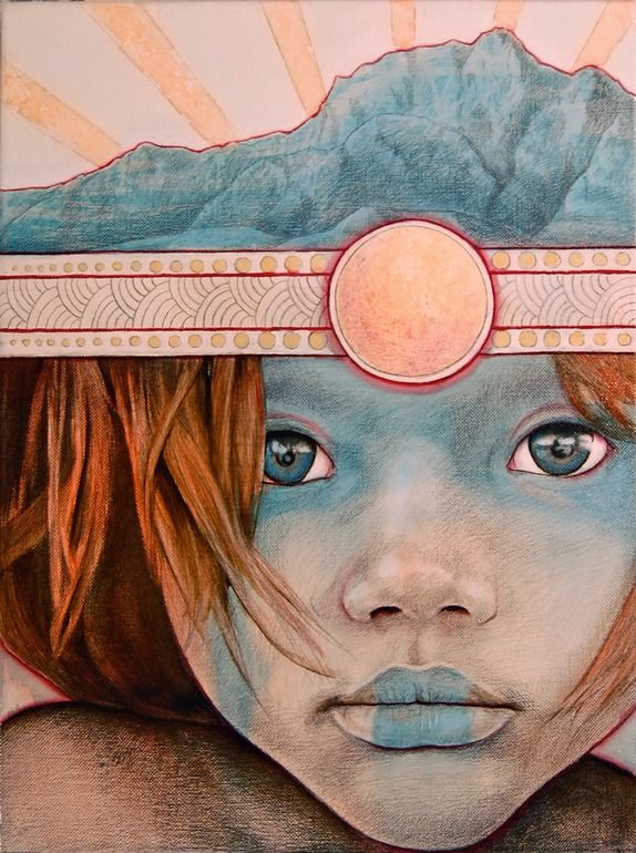 "Saatchi Online Artist: Michael Shapcott; Oil, Painting ""Sun Child No.1"""