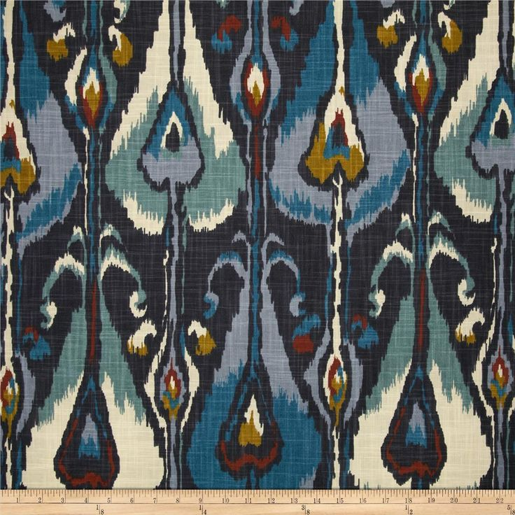 Robert Allen @ Home Ikat Bands Indigo. Opulent and intense!