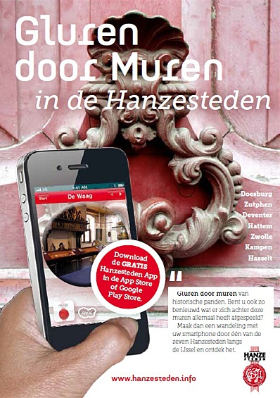 Gluren door muren in Zwolle. Deze app is gratis te downloaden voor Android en Apple.
