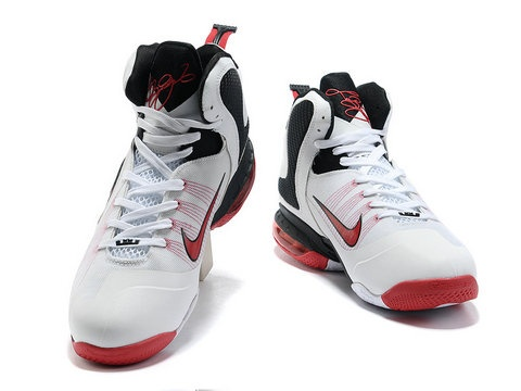 Hot On Sale Nike Lebron 9 Red Black White 469764 102  5112ac002
