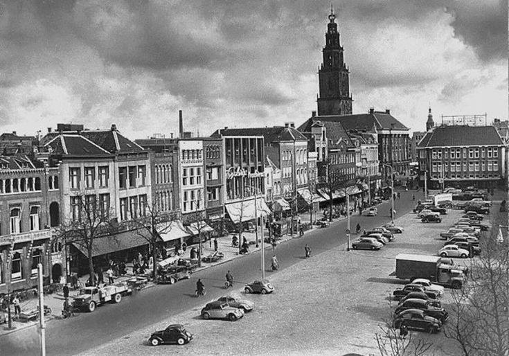 Groningen<br />De stad Groningen: Vismarkt 1960
