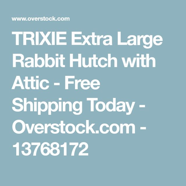 TRIXIE Extra Large Rabbit Hutch with Attic - Free Shipping Today - Overstock.com - 13768172