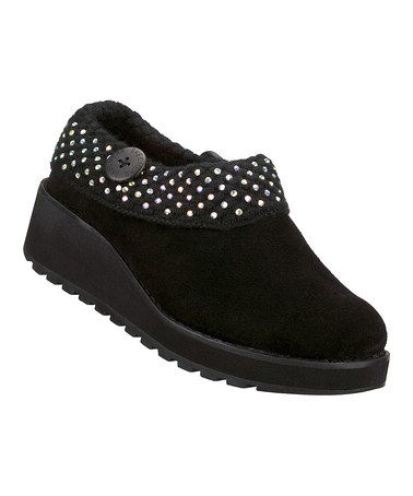 Take a look at this Black Suede Diamond Sky Visioneers Clog by Skechers on #zulily today! My next pair of shoes. I live in clogs and have not seen one with dots on them.
