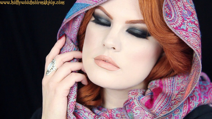 Ashley of Hollywoodnoirmakeup wearing an Arabian inspired ...