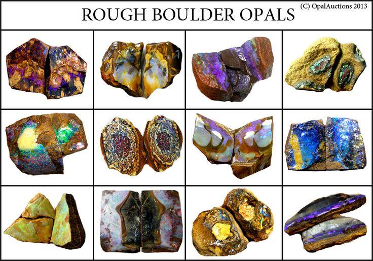 opalauction:  Boulder rough specimens from Queensland Australia