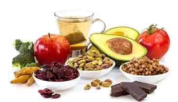 12 Foods to Boost Your Mood   banana, egg, nuts, coconut,  asparagus, ginger tea, kale,  quinoa, lentils