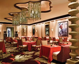 "The ""Sinatra"" restaurant at The Encore in Vegas."
