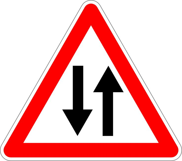 Traffic Sign Sign Two Way Traffic transparent image