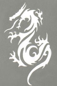 Stargazer - Tattoo Schablone - Drachen Tribal