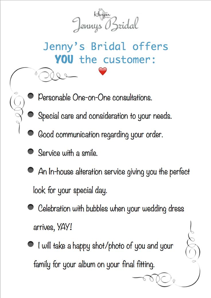 What makes Jenny's Bridal different