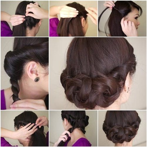 DIY Simple Twisted Updo Hairstyle