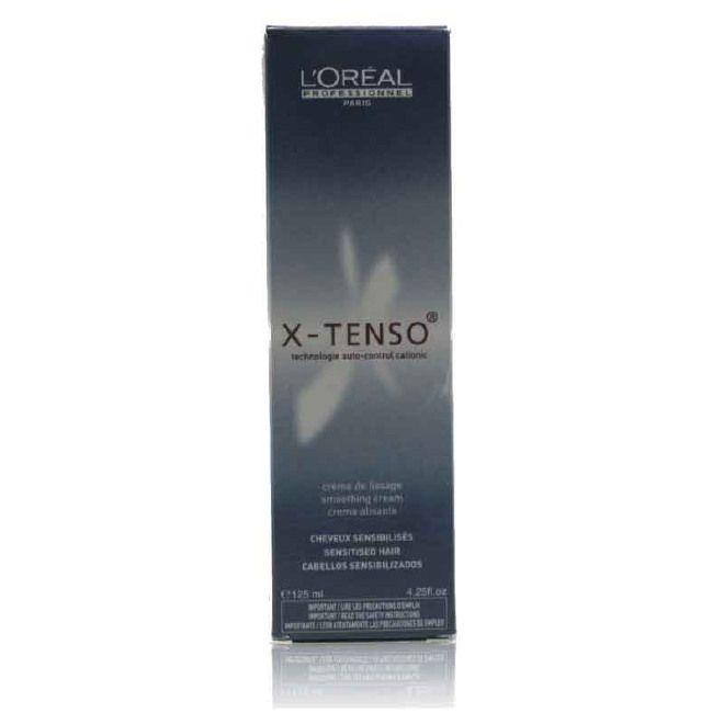 Descrizione :  L'Oreal X-Tenso 125ml Capelli sensibilizzati Lunga durata con levigatura ad alte prestazioni e di alta cosmetici effetti per capelli ricci. Risultati: riccioli Smoothed, volume controllato, i capelli sono facile da pettinare. La X-Tenso crema levigante deve essere utilizzato con X-Tenso lozione neutralizzante.