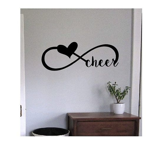 cheerleading Wall decal cheer infinity Quote Sign Vinyl Decal