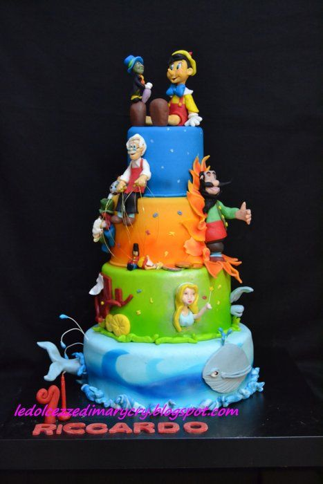 Disney Cake Decorating Book : 35 best images about gateaux Pinocchio on Pinterest ...