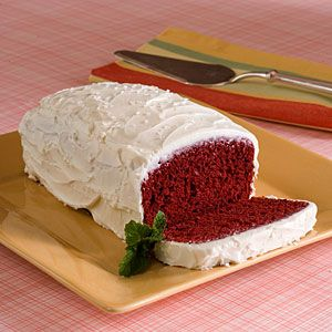 """Red velvet bread...perfect base for french toast or bread pudding, minus the frosting. Red velvet """"season"""" has begun in my house, woohoo!"""