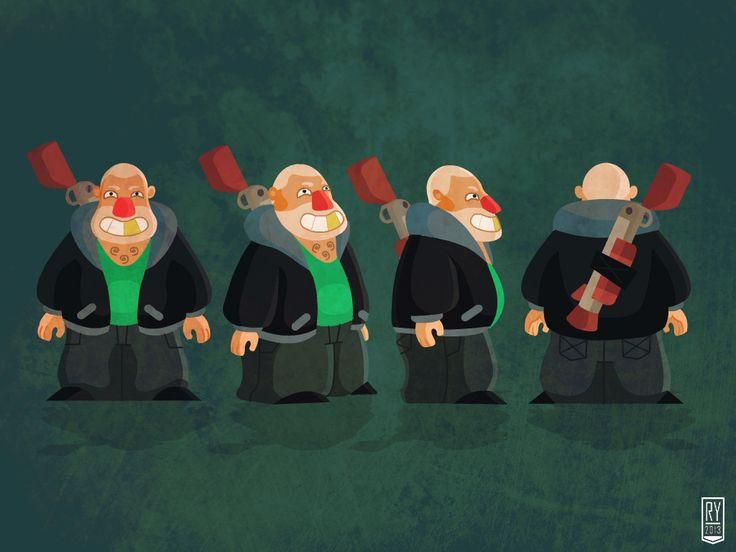 redneck #illustration #fantasy #character #design #artwork #old #man