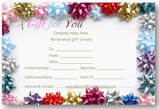 Celebration gift certificate template | Beautiful ...