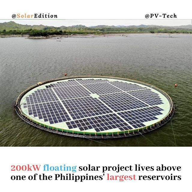 200kw Floating Solar Project Lives Above One Of The Philippines Largest Reservoirs Norwegian Floating Solar Technology Provider Ocean Sun Partnered With Chine