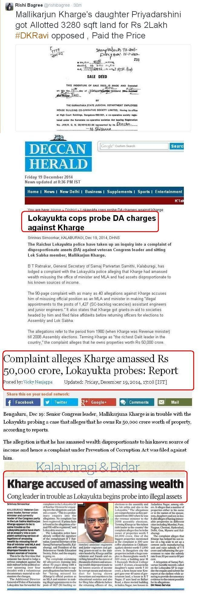 >@firstpost Why is @BJP4India not exposing biggest scamster @MallikarjunINC ?  Why @timesnow @newsx silent?