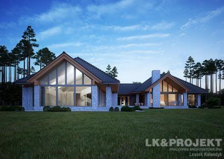 Projekty domów LK Projekt LK&1154 zdjęcie wiodące