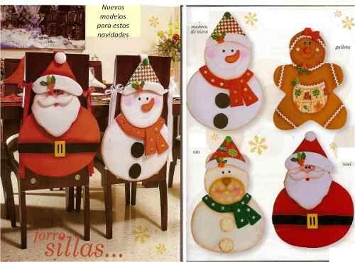 Kit Imprimible Patrones Para Hacer Forros De Silla Navidad - Bs. 400,00