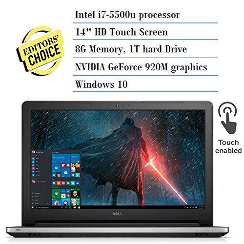2016 Newest Dell Inspiron 14-inch HD Touchscreen Premium Laptop PC, Intel i7-5500U, 8GB RAM, 1TB HDD, Bluetooth, Windows 10, Silver  http://stylexotic.com/2016-newest-dell-inspiron-14-inch-hd-touchscreen-premium-laptop-pc-intel-i7-5500u-8gb-ram-1tb-hdd-bluetooth-windows-10-silver/