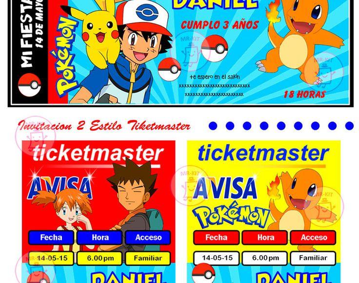 Kit Imprimible Pokemon, Invitaciones, Cajitas, Decoraciones - $ 49.00 en Mercado…