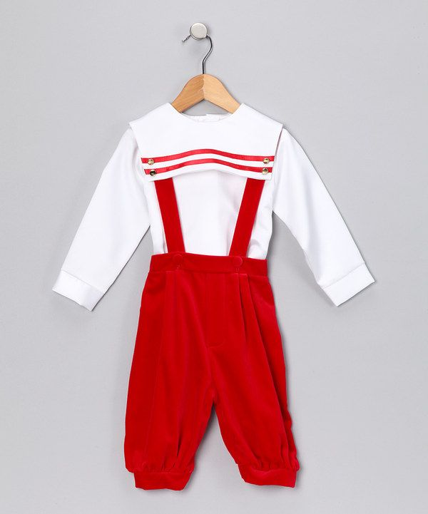 Take a look at this Red Velvet Shirt & Pants - Infant & Toddler on zulily today!