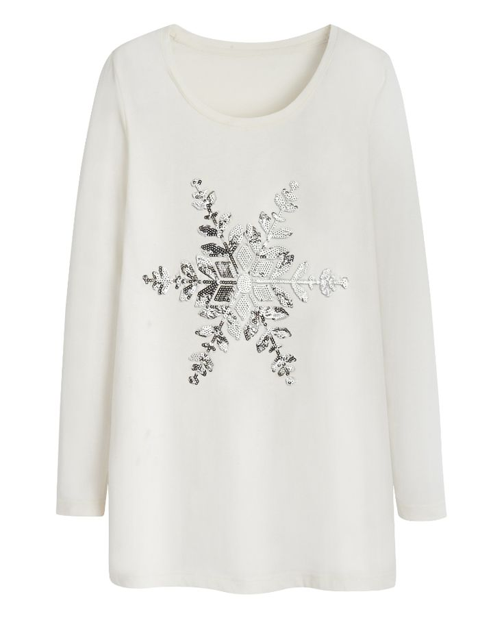 Snowflake Jersey Top at Simply Be