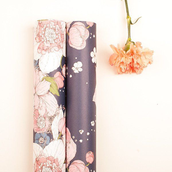 "Wrapping Paper ""Sydäntalvi"" Pink Nuppu Print Company"