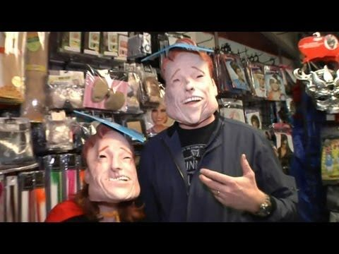 Conan O'brien visits a Halloween store. Hilarious!
