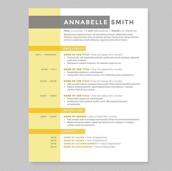 Criss Cross Resume Template Pkg. by JannaLynnCreative on @creativemarket