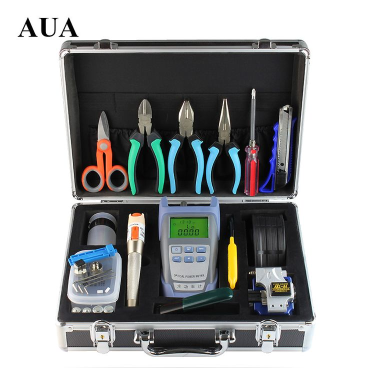 Fiber Optic  Kit Fusion Splicer Tool Sets Visual Fault Locator 10MW Optical Power Meter Fiber Optic Cleaver With Strippers