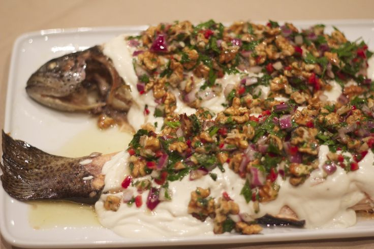 This baked fish dish is a traditional Lebanese recipe by Greg Malouf and it is as easy to make as it is impressive