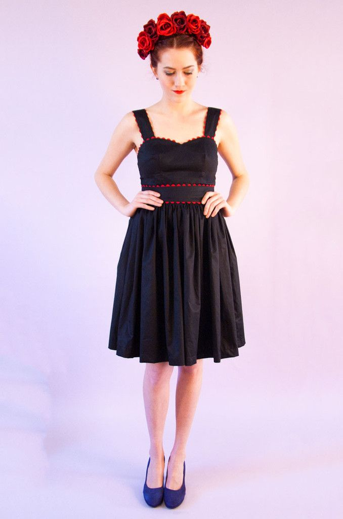 Bonito swing dress - black and red Swonderful Boutique