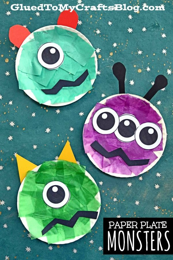 Halloween Crafts For Preschool 2020 Paper Plate Monster   A Fun Kid Craft Idea For Halloween! in 2020