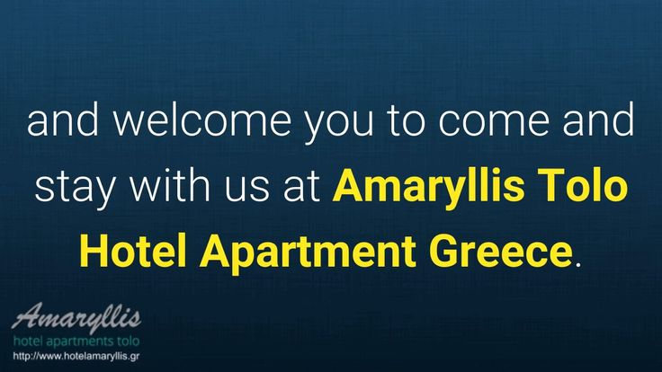 Tolo Hotels Reviews – Testimonials:  Amaryllis Tolo Hotel  Apartment Greece
