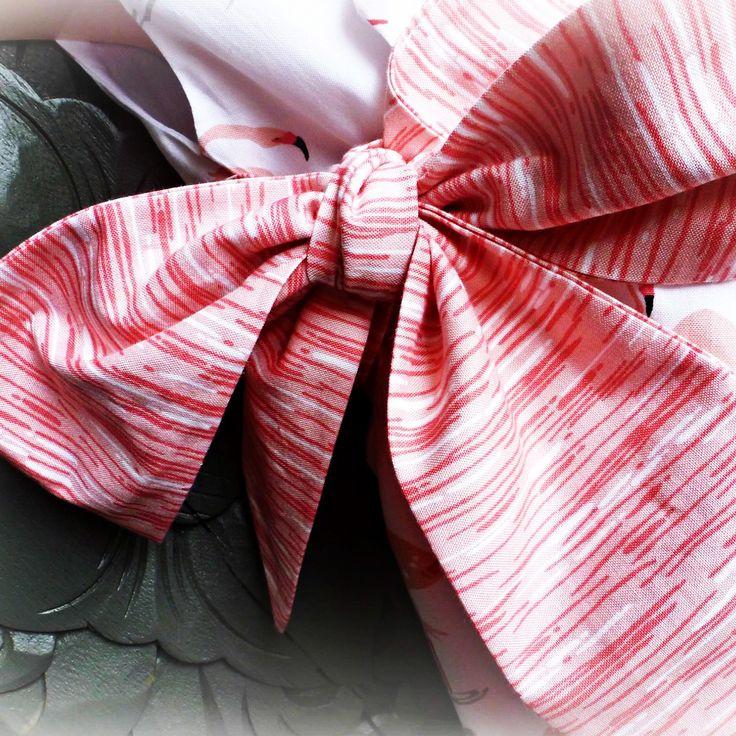 Bow on Flamingo wrap dress