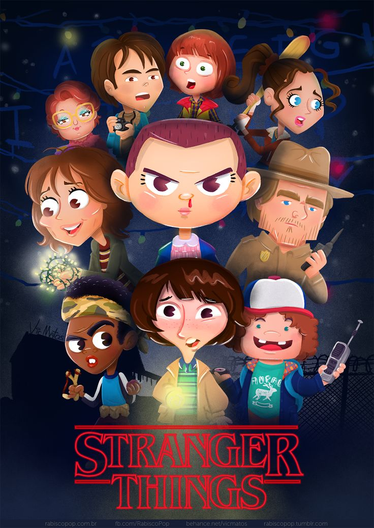 "Check out this @Behance project: ""Stranger Things: Character Design &…"