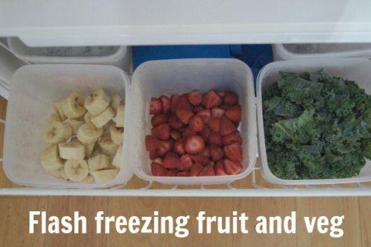 Flash freezing fruit and veg