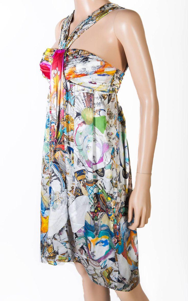 VERSACE Julie Verhoeven Print Silk Dress