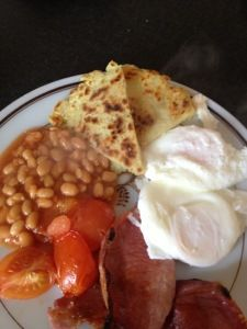 Smash potato bread. Uk breakfast recipe