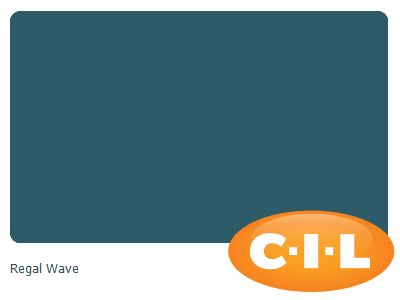 Look at this gorgeous CIL paint colour I found at CIL.ca!  It's Regal Wave 70BG 09/171.