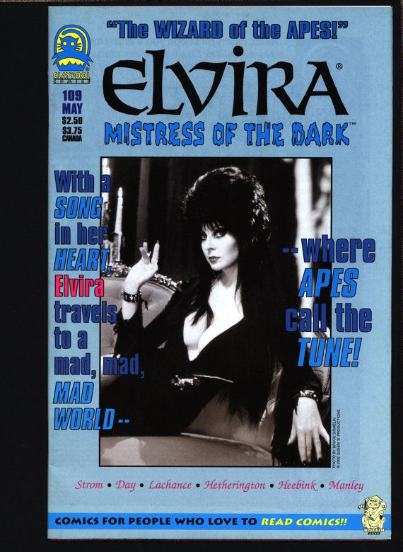 ELVIRA Mistress of the Dark by Frank Strom, Janet L. Hetherington,Dan Day, John Heebink  Based on the schlock horror movie hostess character