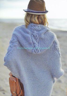 ВСЕ СВЯЗАНО. ROSOMAHA.: Жакет-пальто с капюшоном для первой осенней прохлады.
