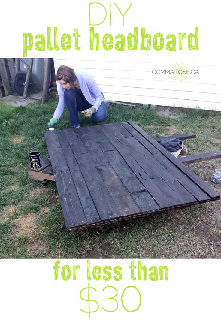 Make a handsome headboard from discarded pallets for super cheap. It's not that hard at all! DIY & upcycled pallet projects