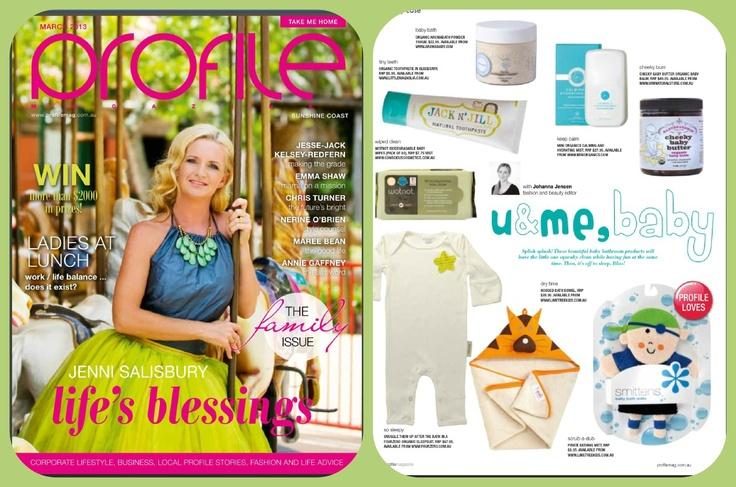 In the press.  March 2013 Profile Magazine. Sleep suit $67.95 www.fourzero.com.au